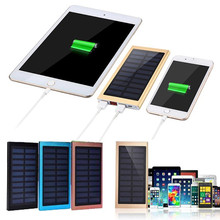 FGHFG HOT  10000mAh Portable Solar Power Bank Dual USB Fast Charger DIY Box Case for Mobile Phone External Backup Battery