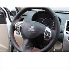 цены на Lsrtw2017 Genuine Leather Car Steering Wheel Cover for Mitsubishi Pajero Sport Montero 2008-2016 2009 2010 2011 2012 2013 2014  в интернет-магазинах