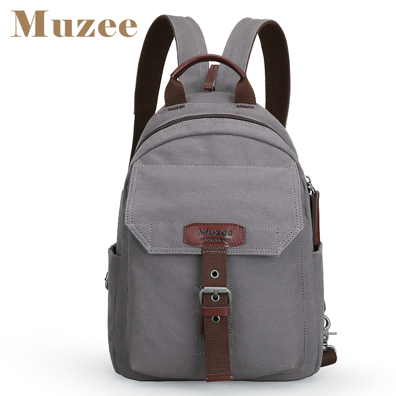 Muzee New Fashion Backpack Women and Men backpack Canvas Men and Women High Capacity Crossbody bag купить дешево онлайн