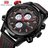 MINI FOCUS Fashion Casual Watch Men Quartz Clock Digital Dual Time Waterproof Sport Chronograph Top Brand Luxury Wrist Watches