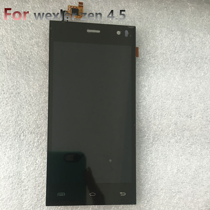 LCD Display + Touch Screen Digitizer Glass Panel For wexler zen 4.5