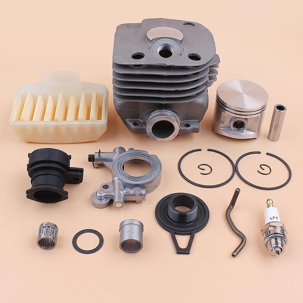 50mm Cylinder Piston Oil Pump Worm Gear Air Filter Kit for Husqvarna 362 365 372 371 Jonsered 2065 2071 2165 2171 Chainsaw Motor