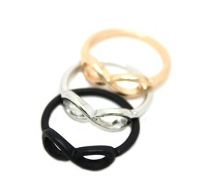 nz29 Hot!! New Style Fashion Alloy 8 Words Gold color /Silver color /Black color Ring Jewelry Accessories Free shipping!