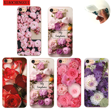 Colorful Flower Case for iPhone 7/8/6 plus Case Beautiful Leaves for iPhone X Case Silica gel Peony Back Cover Phone стоимость