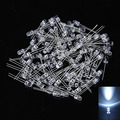 100Pcs 5mm White Ultra-Bright LED Light Lamp Emitting Diodes 15000MCD Lamp Diodes High Quality