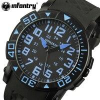 PIYADE Erkek Saatler Askeri Spor Saatleri Kauçuk Kayış Aviator Deniz Kolordu Kuvars Saatı Erkek Saat Relogio Masculino