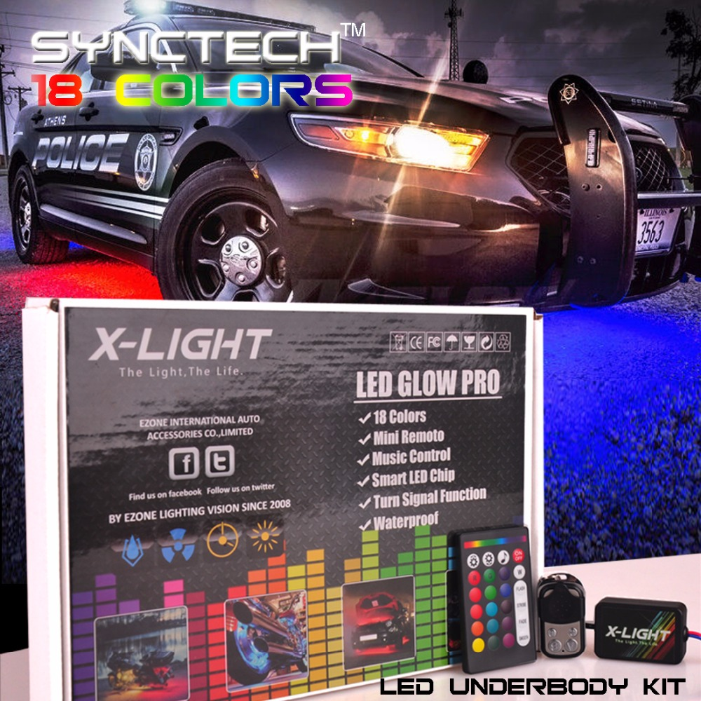 Car color kit - Aliexpress Com Buy 18 Color Car Truck Underglow Under Body Neon Accent Glow Led Lights Kit 4 Pieces 2x 36 2x 48 From Reliable Underglow Led Suppliers