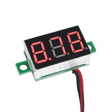 Digital Voltage Meter Voltmeter Mini DC 4.5v -30V 2 Wire LED Display Panel Car Motorcycle Current Monitor Tester Voltage Meter(China)