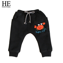 HE Hello Enjoy Baby boys pants Winter warm harem baby girl pants A crab With thick cotton baby boy trousers