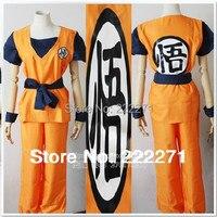 New Dragon Ball Z GoKu Cosplay Costume Fancy Party clothing Free Track Anime Dress Full Set