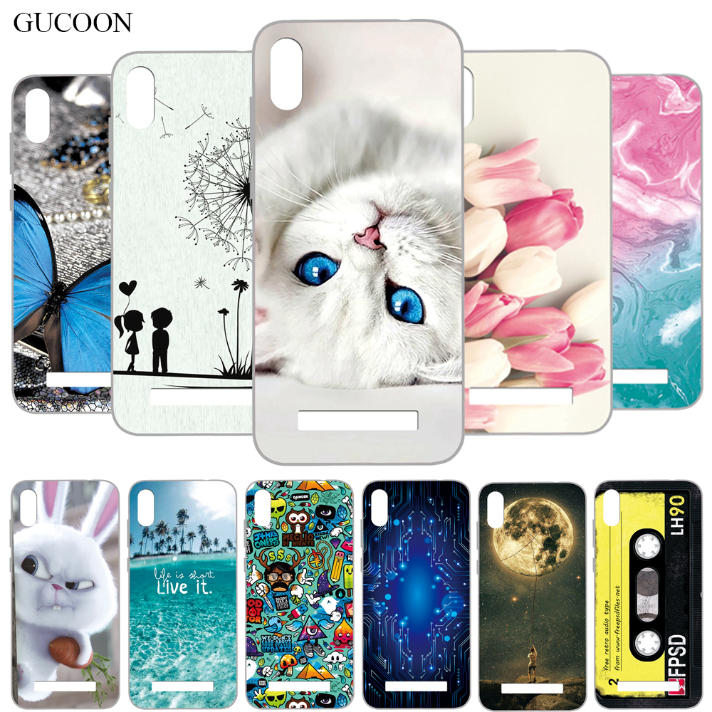 GUCOON Cartoon Cover for Doogee Y8C 6.1inch Case Soft Silicone TPU Phone Back Case for Doogee X90 Bumper Shell image