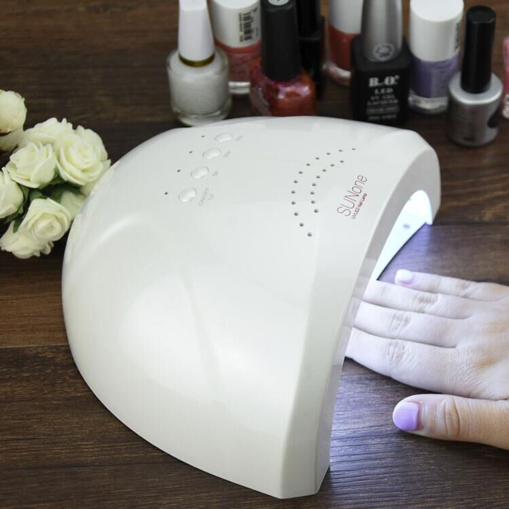 Professional 48W or 36W Phototherapy Nail Dryer with White LED UV Lamp for Nail Gel EU PLUG Manicure Tool 2016 New Arrival portable 18w led uv light phototherapy lamp quick nail gel dryer light pink 2 round pin plug