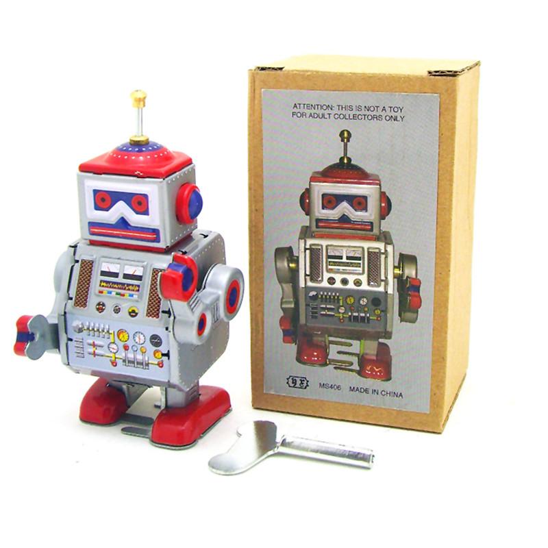 classic vintage clockwork wind up robot nios nios juguetes de hojalata con clave diversin juguetes