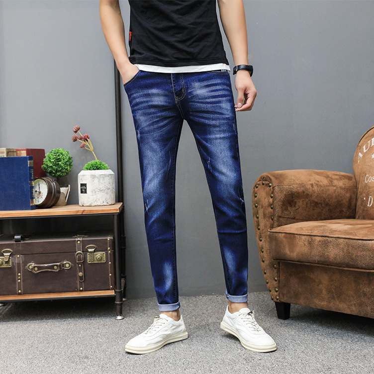 The new 2018 mens jeans stretch of cultivate ones morality leisure jeans tide teenagers