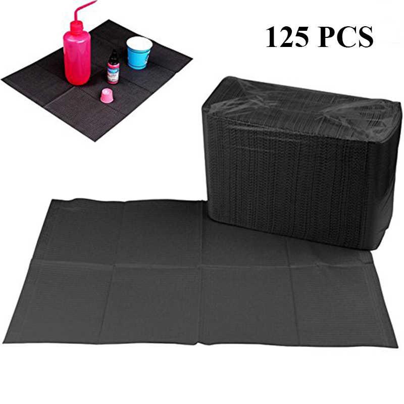 Новые 125 шт. черные салфетки для чистки татуировок одноразовые нагрудники для пирсинга зубов непромокаемые листы бумажные аксессуары для татуировки