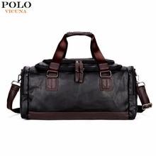 Викуньи Поло большой Ёмкость Для мужчин Дорожные сумки простой контраст черный вещевой мешок для поездки Повседневное бренд саквояж Мужской Новые