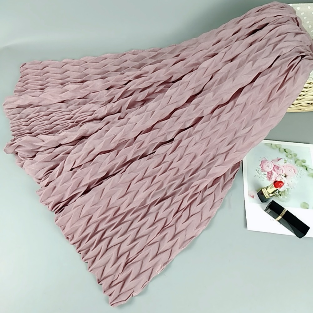 M4 High quality plain crinkel viscose hijab   wrap   shawls women   scarf     scarves   long   wrap   headband 180*90cm