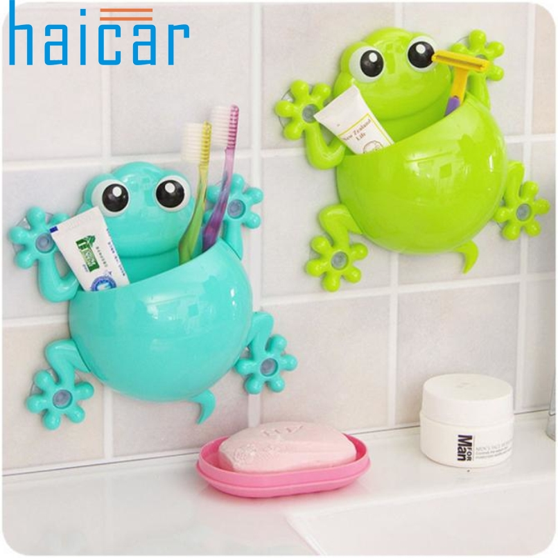 Haicar Top Grand Bathroom Accessories Set Cartoon Gecko Toothpaste Holder Wall Sucker Hook Tooth Brush Holder Toothbrush Holder ...