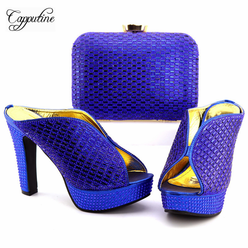 Capputine New Arrival Nigeria Style Shoes And Bag Set Summer Rhinestone Woman High Heels SHoes And Bag For Parties TX-8281 banking reforms and banks stability in nigeria 1986 2009
