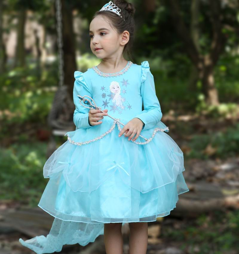 Sofia Princess Dress Kids Cosplay Costumes Girls New Arrival: Children Cosplay Dress Cartoon Sofia Halloween Perform