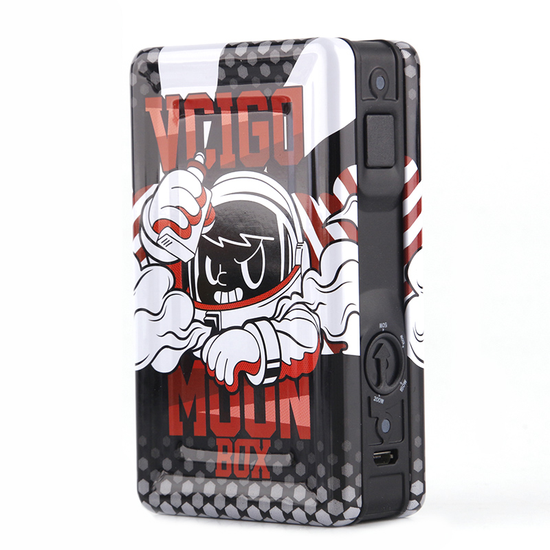 Sigelei Vcigo Moon Box Mod Cute Cartoon Print Electronic Cigarette Kit 200w Mod 2.0ml RDTA Atomizer Vape Mod Only Mod