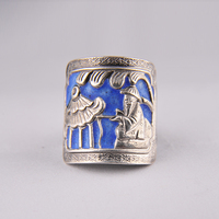 Silver Ring Ring single Metrosexual Zuyin jewelry personality wide Vintage Sterling Silver ring finger domineering man