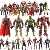 24pcs/set Captain Marvel Avengers Super Heroes Action Figures Thanos Iron Man Wolverine Toys Hulk Thor Doctor Strange Figure