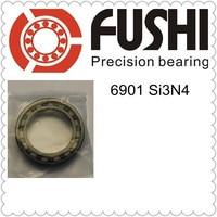 Free Shipping 61901 ONE PC 6901 Full Ceramic Si3N4 12x24x6 12mm 24mm 6mm Si3N4 Ceramic Ball