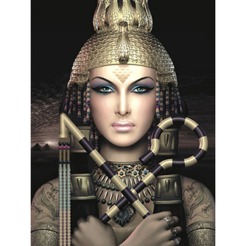 Mosaico de diamantes cuadrado completo bordado diy pintura de diamantes Cruz juegos de diamantes decorativos para el hogar de la reina de Egipto KBL