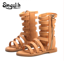 Girls Shoes Sandals Kids Leather Shoes Children Gladiator Sandals 2019 Summer Baby Girls Flat Princess Shoes Kids Casual Shoes
