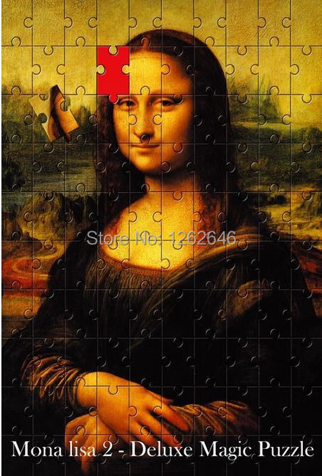 Mona Lisa 2 Magic Puzzle - Magic Tricks, Stage Magic,Mentalism,Close up,Magic Toys,Comedy,Illusion risk staple gun trick stage magic close up illusions accessory gimmick mentalism