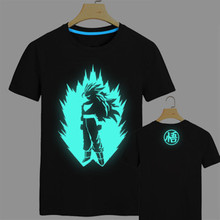 Japan anime Dragon Ball Z T Shirt Super Saiyan fluorescent t shirt men Son Goku Tees Tops Men Clothes