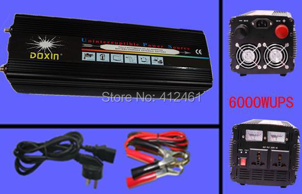 Real 6000 Watt Doxin Auto Power Inverter 6000W / 12000 Watt (Peak) ,12V 220V Inverter Car Power Charger With UPS System DHL Free brand new pioneer d series ts d6902r 6x9 720 watt peak 160 watt rms pair 2 way coaxial car speakers with dual layer imx aramid basalt fiber composite cone