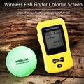 Бесплатная доставка! Совершенно новый КДР цветной рыболокатор беспроводной Sonar сенсор датчик глубины эхолот перезаряжаемый аккумулятор