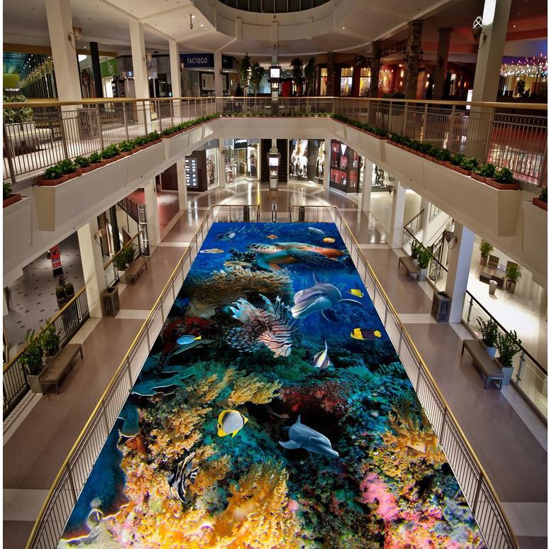 ФОТО Seaworld dolphin Floor wallpaper 3d for bathrooms 3D wall murals wallpaper floor 3d floor wallpapers