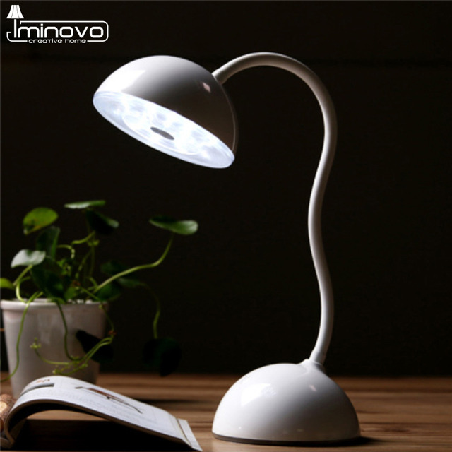 IMINOVO Livro Luz Fones De Ouvido Hands-Free Pescoço Flexível Light Reading Lâmpadas Lanterna Interruptor Do Sensor Da Lâmpada de Carga USB