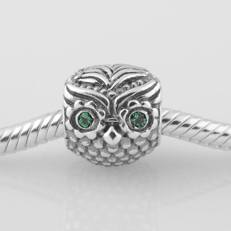 e9bb5e907 New Wise Owl 925 Sterling Silver Screw Charm Bead with Crystal Eyes,  Suitable for Pandora Bracelet Jewelry DIY Making-in Beads from Jewelry &  Accessories on ...