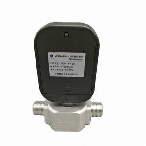 Image 3 - DANIU yeni taşınabilir MF5712 akış ölçer 200L/dak dijital gaz hava azot oksijen kütle akış ölçer Rs485 Modbus protokolü