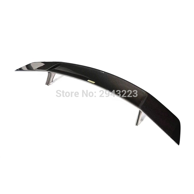 Car Styling Carbon Fiber Exterior Rear Spoiler Tail Trunk Lid Boot Wing Cover Decoration For Audi R8 V8 V10 2008 - 2015 5
