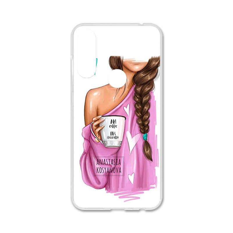 Uppbo الحالات الهاتف أسود براون الشعر الطفل أمي فتاة الملكة لينة تي بي يو جراب إيسوز Zenfone ماكس زائد (M2) ZB634KL ماكس النار 6.26 بوصة