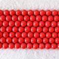 Charming red artificial coral 6mm 8mm 10mm 12mm 14mm round diy jewelry loose beads high quality wholesale price 15inch B604