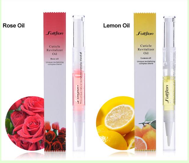 Fulljion 1pcs New Cuticle Revitalizer Oil Fruits Nail Art Treatment Manicure Soften Pen Tool Nail Cuticle Oil For Nails Makeup
