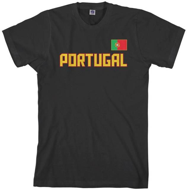 07045f12 2018 Men's Portugal National Team T-shirt Portuguese Flag harajuku Summer  2018 tshirt funny 100% Cotton t shirt
