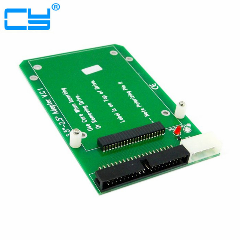 50pin 1.8 Toshiba Micro Drive CF to 3.5 40pin IDE Desktop HDD Adapter Card SSD cf compact flash merory card to vertical 2 5 44 pin ide hard disk drive hdd ssd adapter
