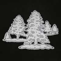 Albero di metallo di taglio muore per scrapbooking goffratura stencil punch craft timbri trasparenti stanzschablonen albero muore fustelle legno