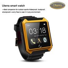 2016 kostenloser Versand Bluetooth Smart watch Uterra Wasserdicht IP68 Schrittzähler SmartWatch Armbanduhr Für iPhone Android Samsung HTC