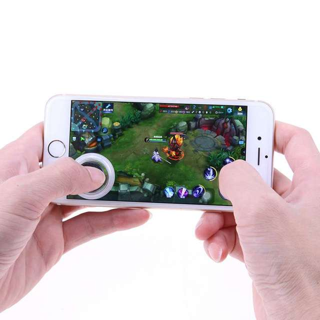 1pc Ultra-thin Touch Screen Mobile Phone Joystick for Phone Arcade Games Controller Physical Game Joystick for Touch Tablets