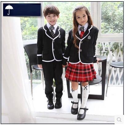 15484ec6f6d94 Uniformes escolares japoneses coreanos británicos niños Escuela Primaria uniforme  escolar niños niñas y niños chaqueta falda