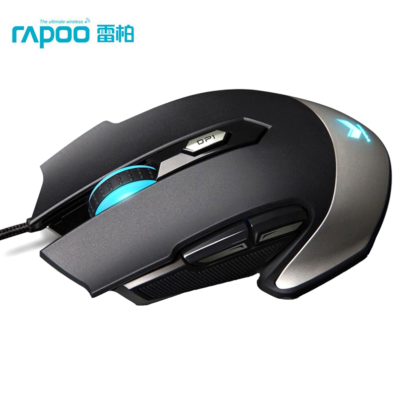 Rapoo V310 USB Wired Laser Gaming Mouse 8200DPI  Breathing Light Button Programming For CF/LOL Pro Gamer Laptop PC Computer