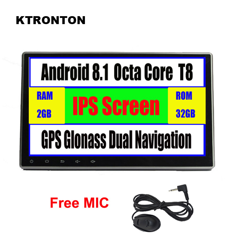 10 1 quot IPS Big Screen Android 8 1 Car DVD Player for Universal with GPS Glonass Wifi Bluetooth Mirror Link Radio Support OBD DAB in Car Multimedia Player from Automobiles amp Motorcycles